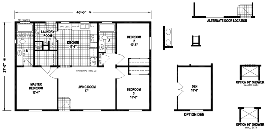 Lonerock on Small Double Wide Mobile Home Floor Plans